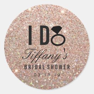 Sticker - Glitter I DO Bridal Shower Rose Gold