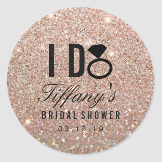 Sticker - Glitter I DO Bridal Shower Rose Gold