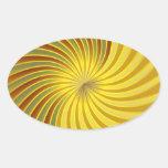 Sticker gold spiral vortex