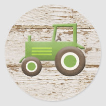 Sticker Green Tractor Farm Theme