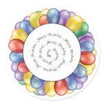 Sticker/Happy Birthday Balloons Classic Round Sticker