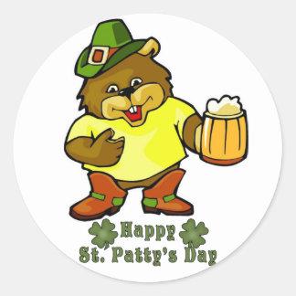 Sticker-Happy St. Paddy's Day Irish Classic Round Sticker