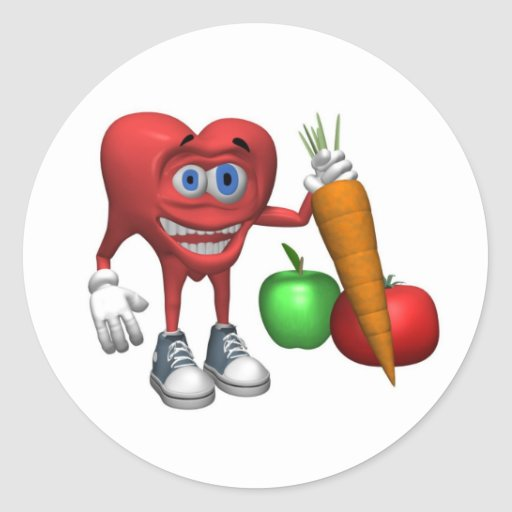 Sticker-Health Heart Fruits and Veggies