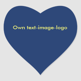 Sticker Heart uni Blue