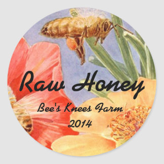 Sticker Home Canning Jar Honey Bees Retro