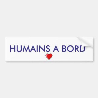 "sticker ""human on board "" car bumper sticker"
