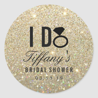 Sticker - I DO Bridal Shower Glitter