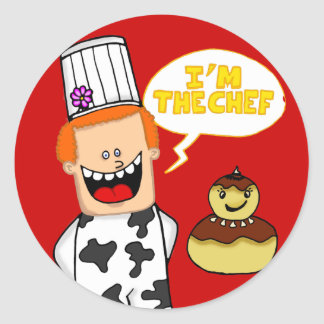 "sticker ""I'm the chief"""