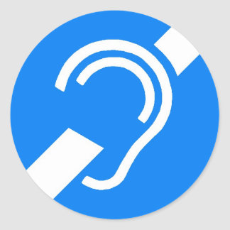 Sticker International Symbol for the Deaf
