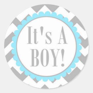 Sticker/It es un muchacho Pegatina Redonda