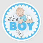 Sticker/It's a Boy Classic Round Sticker