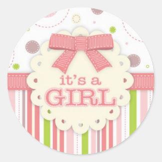 Sticker/It's a Girl Classic Round Sticker