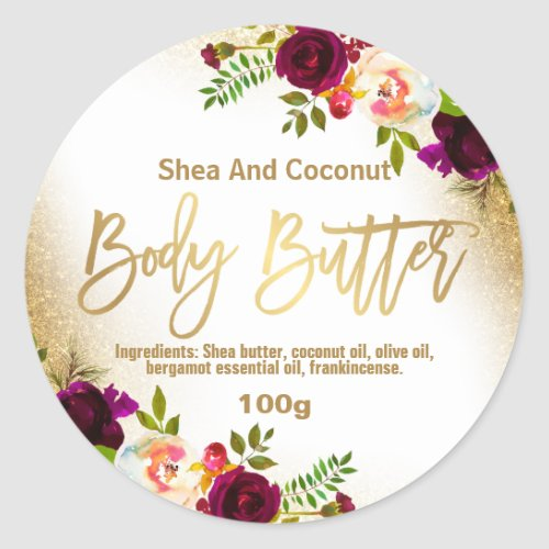 Sticker Label For Homemade Body Butter