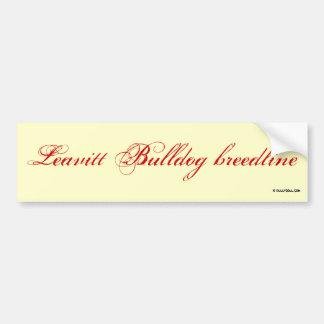 Sticker Leavitt breedline