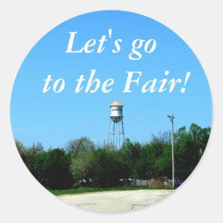Sticker:  Let's go to the Fair! Classic Round Sticker