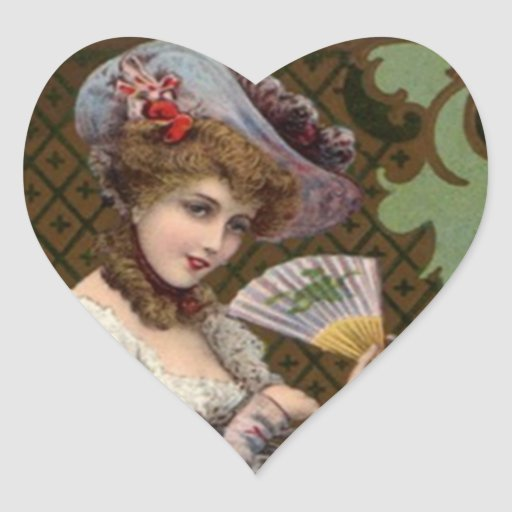 Sticker Lovely Vintage Victorian Clothing Fashions