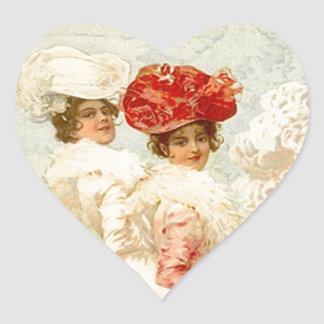 Sticker Lovely Vintage Victorian Clothing Friends