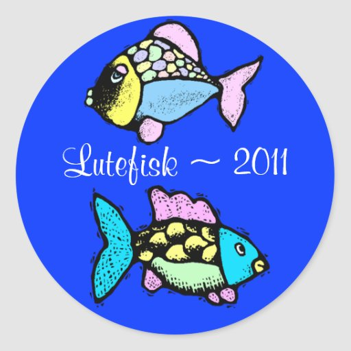 Sticker Lutefisk Fish Home Canning Jar Circles