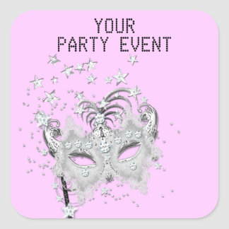 Sticker MASK Silver Party Choose Background