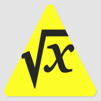 Sticker Math Square Root
