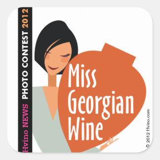 STICKER Miss Georgian Wine 2012 Hvino News Contest