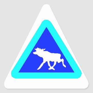 Sticker Moose Crossing Xing turquoise blue white