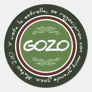 Sticker Navideño con Gozo y Verso Biblico