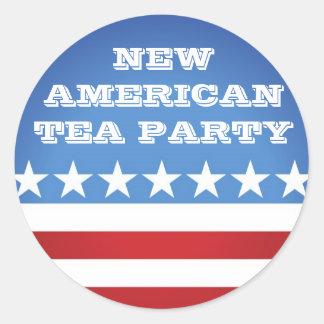 Sticker-New American Tea Party Classic Round Sticker