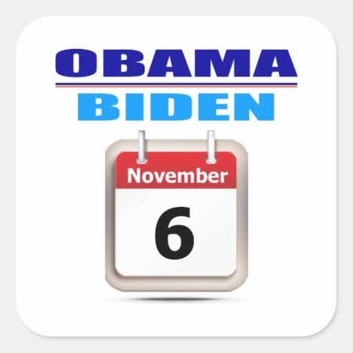 Sticker - Obama/Biden - Calendar