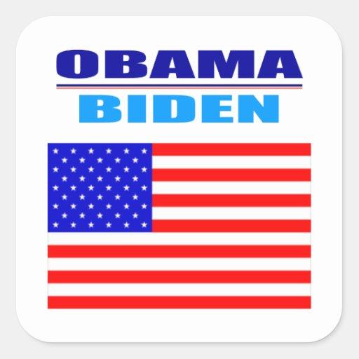 Sticker - Obama/Biden - Flag