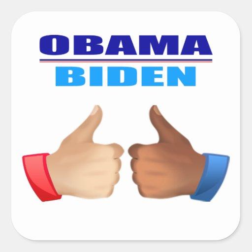 Sticker - Obama/Biden - Thumbs Up