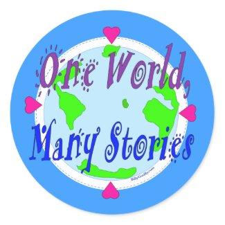 Sticker - One World, Many Stories sticker