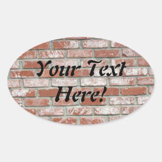Sticker (ovl) - Brick wall with text