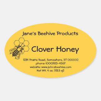 Sticker (ovl) - Honey Business (Bee on Comb)