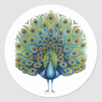 Sticker Peacock