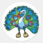 Sticker-peacock peafowl