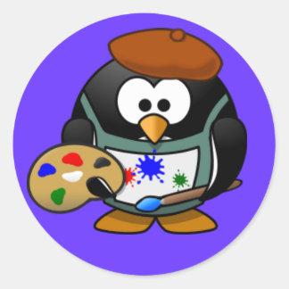 Sticker - Penguin Painter
