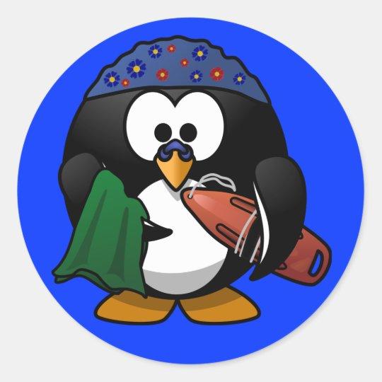Sticker - Penguin Surfer