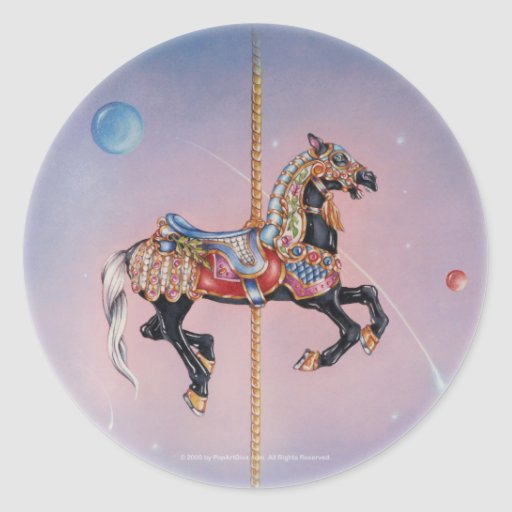 Sticker - Petaluma Carousel Horse 1