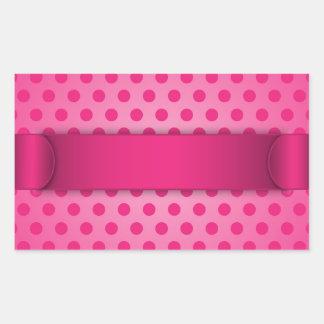 Sticker Pink Polka Dot