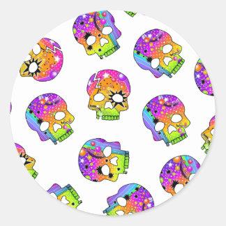 Sticker - POP ART SKULLS
