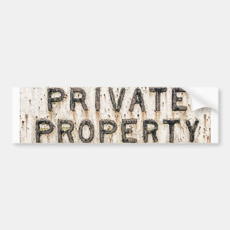 sticker private property