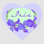 Sticker Purple Indigo Iris Flowers Garden Gardens