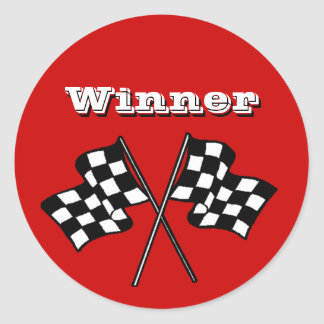 Sticker Race Fans Winner Checkered Flags auto cars