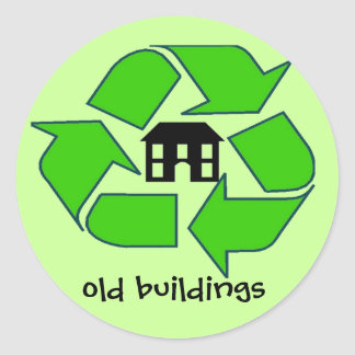 Sticker - Recycle - old buildings