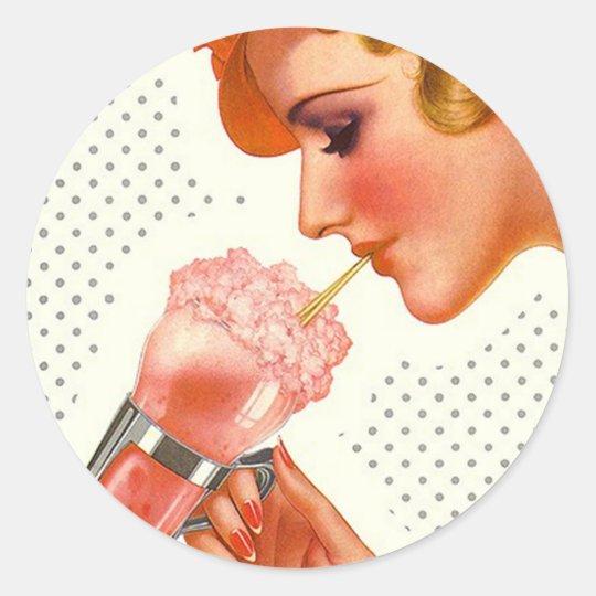 Sticker Retro Soda Fountain Mag cover advertising