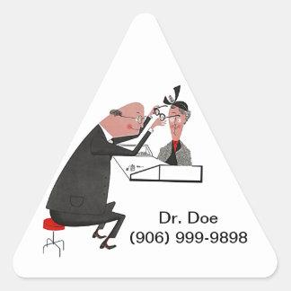 Sticker Retro Triangle ophthamologist eye doc dr