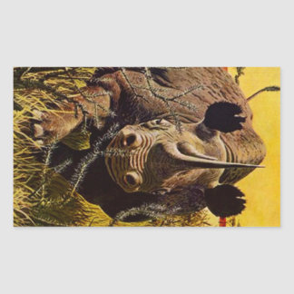 Sticker Rhino Charge Wild Safari Jungle Rhinoceros