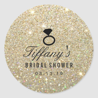 Sticker - Ring Bridal Shower Glitter Gold