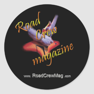 Sticker, Road Crew Mag Official Classic Round Sticker